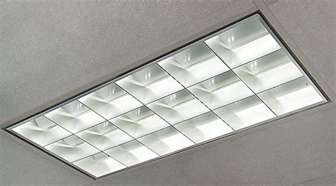recessed fluorescent tube lighting fixtures etl listed led tube light fixture with parabolic louver