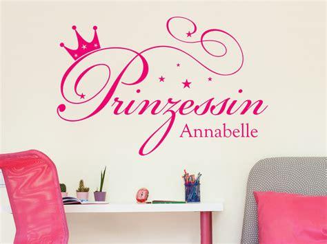 Wandtattoo Kinderzimmer Mädchen Prinzessin by Prinzessin Mit Name Wandtattoo Wunschname Wandtattoos De