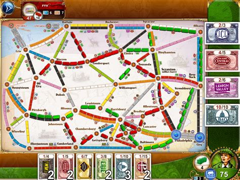 hiews boardgame blog ticket  ride pennsylvania