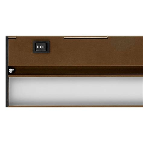 dimmable under cabinet lighting nicor slim 30 in oil rubbed bronze dimmable led under