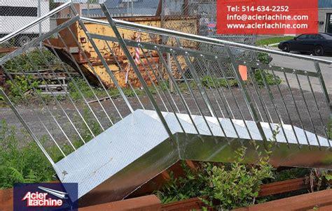 steel exterior stair galvanized acier lachine inc