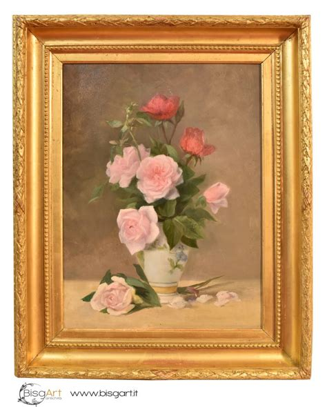 dipinti di fiori a olio quadri fiori antichi pittura ad olio su tela dell 800