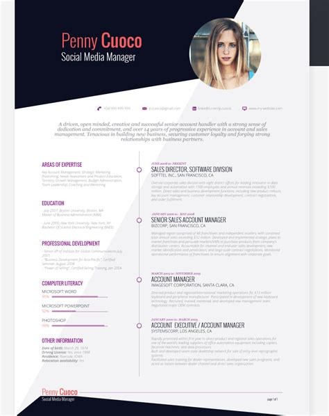 40 free creative resume templates for seekers
