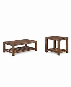 avondale 2 pc set coffee end table furniture macy39s With avondale coffee table