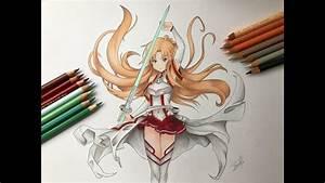 Speed Drawing - Yuuki Asuna  Sword Art Online   Hd