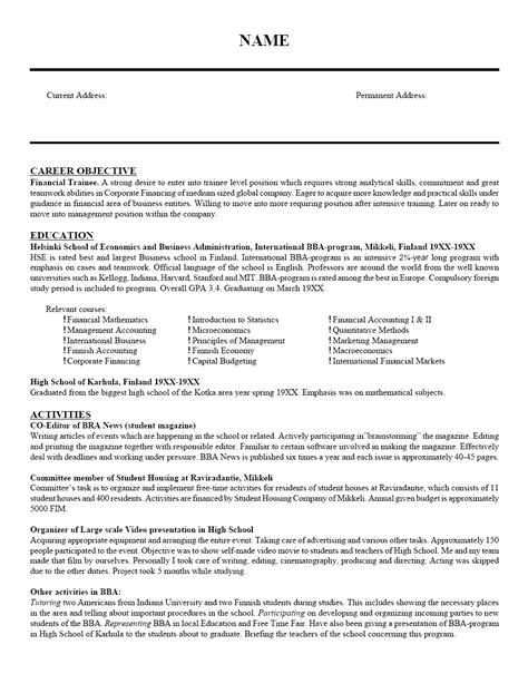 Teaching Objectives For Resume by Resume Exles Templates Free Sle Format Teaching Resume Exle Resumes Exles