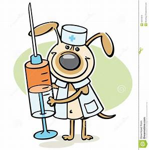 Dog Veterinarian Character With Syringe Stock Vector ...