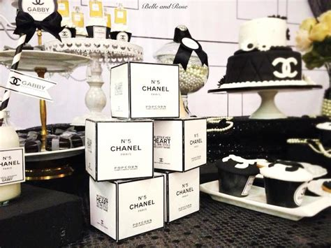 karas party ideas chanel inspired bridal shower