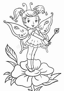 Cartoon Female Standing Coloring Pages