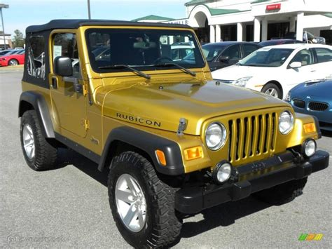 jeep metallic 2003 inca gold metallic jeep wrangler rubicon 4x4