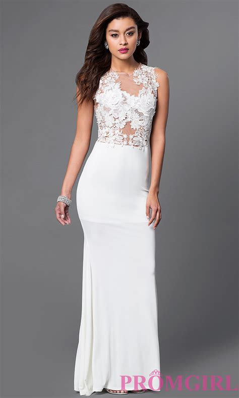 Sleeveless Evening Gown, Long Lace Prom Dress