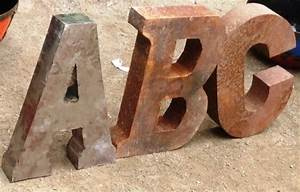 14quot rustic metal letters alphabet With how to make metal letters