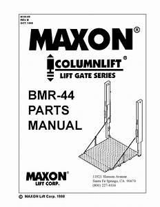 Maxon Bmr Series By The Liftgate Parts Co
