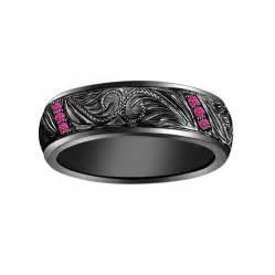 superman wedding ring set black and pink diamond engagement ring hd black band pink