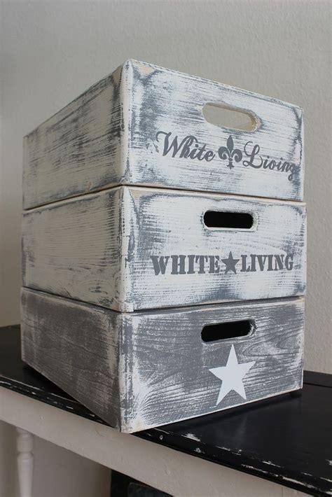 Weinkisten Shabby Streichen by Die 25 Besten Ideen Zu Alte Kisten Auf