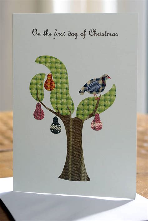Christmas & holiday holiday card ideas & inspiration. 8 Partridge In A Pear Tree Christmas Cards By Flaming Imp | notonthehighstreet.com