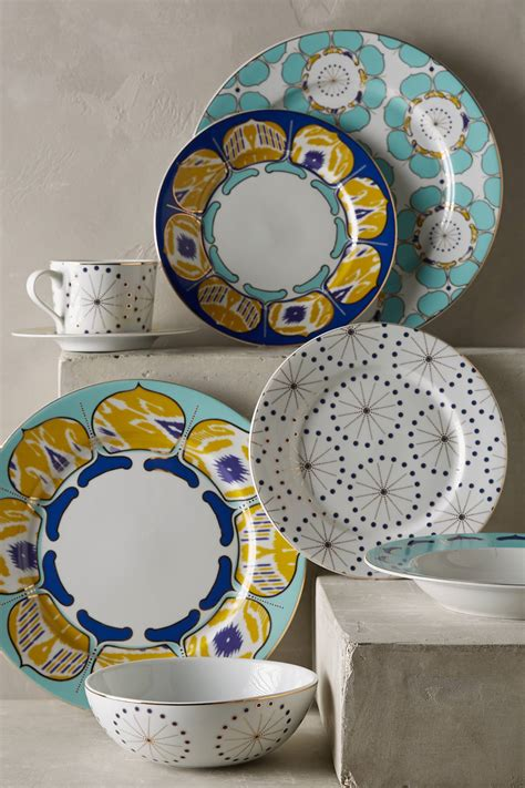 dinnerware anthropologie dinner plate forbury casual sets island dining zoom plates colorful pattern patterns double tap decorative