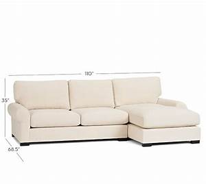 Turner roll arm upholstered sofa with chaise sectional for Pottery barn turner sectional sofa
