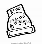 Cartoon Register Cash Shutterstock Vector Lightbox Save sketch template