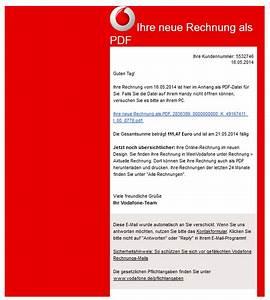 Meine Vodafone Rechnung : achtung spam in der inbox falsche rechnungen per e mail ~ Themetempest.com Abrechnung