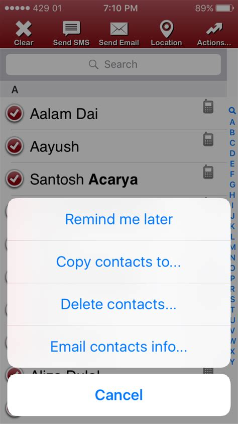 delete other on iphone how to delete all contacts at once on iphone and