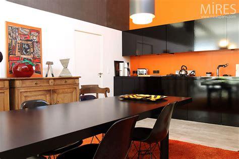 cuisine orange et noir cuisine moderne orange et c0543 mires