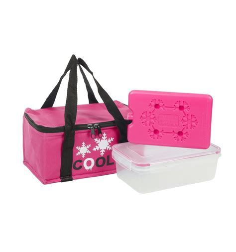 3 Piece Coolerbag Lunch Box Ice Pack 600D [858528]