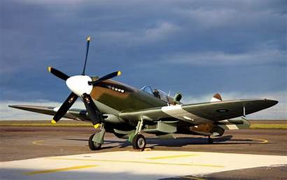 Spitfire British Planes Military Desktop Airplane Sky