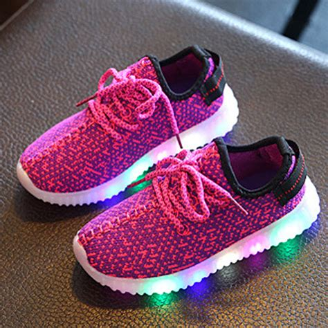 kids sneakers with lights led luminous shoes for boys girls fashion light up kids
