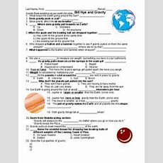 Bill Nye And Gravity Worksheet For 3rd  5th Grade  Lesson Planet