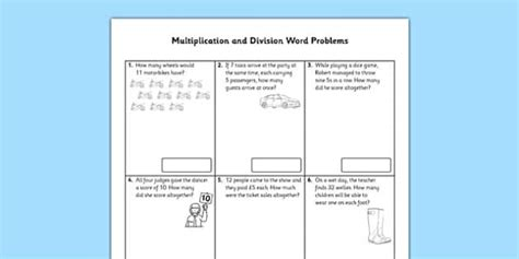 year  multiplication  division word problems