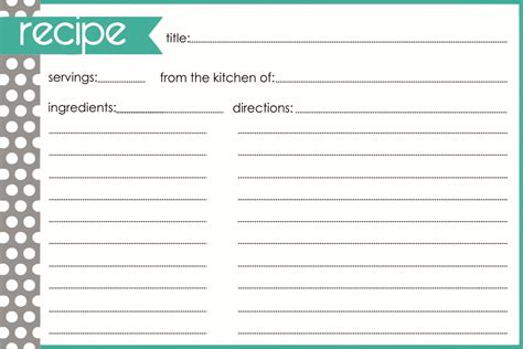 blank printable recipe cards printableecom