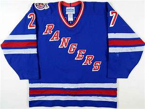 1992 93 alexei kovalev new york rangers game worn jersey With new york rangers jersey letters