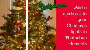 learn photoshop elements add starbursts or a twinkle to your christmas tree lights youtube