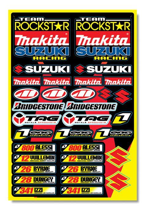Rockstar Makita Suzuki by Rockstar Makita Suzuki Sticker Kit 2008