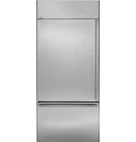 zicsnhlh ge monogram  built  bottom freezer refrigerator left hinge stainless stee