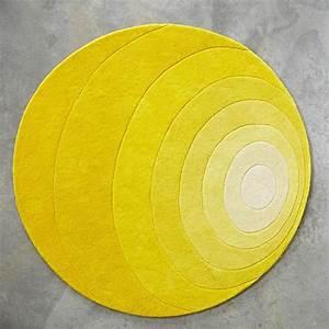 luna tapis design de verner panton verpan tapis rond With tapis rond jaune