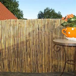 Paravent 2m Hoch : bambusmatte gef llt sichtschutzmatte macao natur sichtschutz ~ Indierocktalk.com Haus und Dekorationen