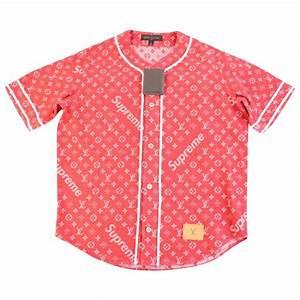 T Shirt Louis Vuitton Homme : tee shirt louis vuitton x supreme rouge en coton ~ Melissatoandfro.com Idées de Décoration