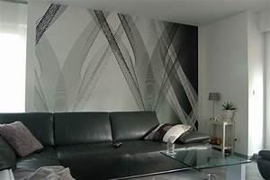 Tapeten Badezimmer Beispiele : tapeten streifen farbe wandgestaltung ~ Markanthonyermac.com Haus und Dekorationen