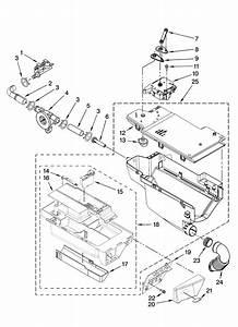 Dispenser Parts Diagram  U0026 Parts List For Model Wfw9200sq00
