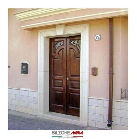 Ingressi In Pietra - portale d ingresso in pietra di comiso falzone marmi