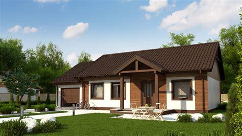 Mājas dizains Z61 GL Lēta un viegli uzbūvējama vienstāva ...