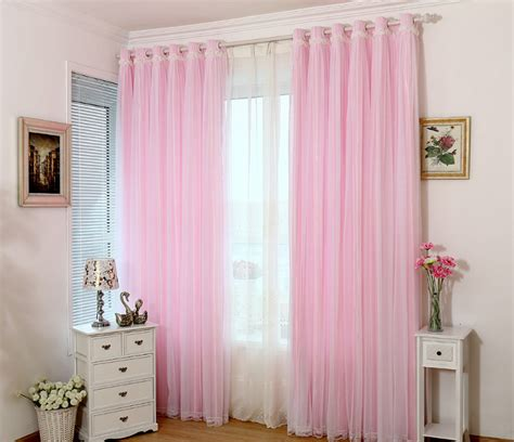 pink and white curtains 2016 selling lace curtain pink blue green