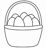 Easter Basket Coloring Pages Printable Preschoolers sketch template