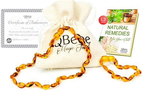 Amber Teething Set Qbebe Amber Teething Necklace Plus