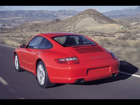 2007 Porsche 911 Carrera 4 Rear Angle Speed Closeup