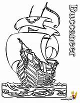 Pirate Coloring Ship Pages Outline Pirates Ships Boys Printable Boat Buccaneer Skulls Colouring Hard Yescoloring Boats Cartoon Seas Collections Clipartmag sketch template
