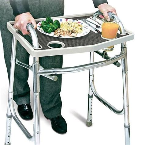 walker seniors grip tray cup domestify carry