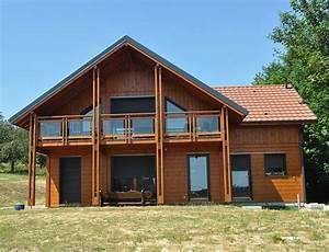 maison bois style chalet aspect poteau poutre nos maisons With maison toit plat bois 1 arkobois nos maisons ossatures bois